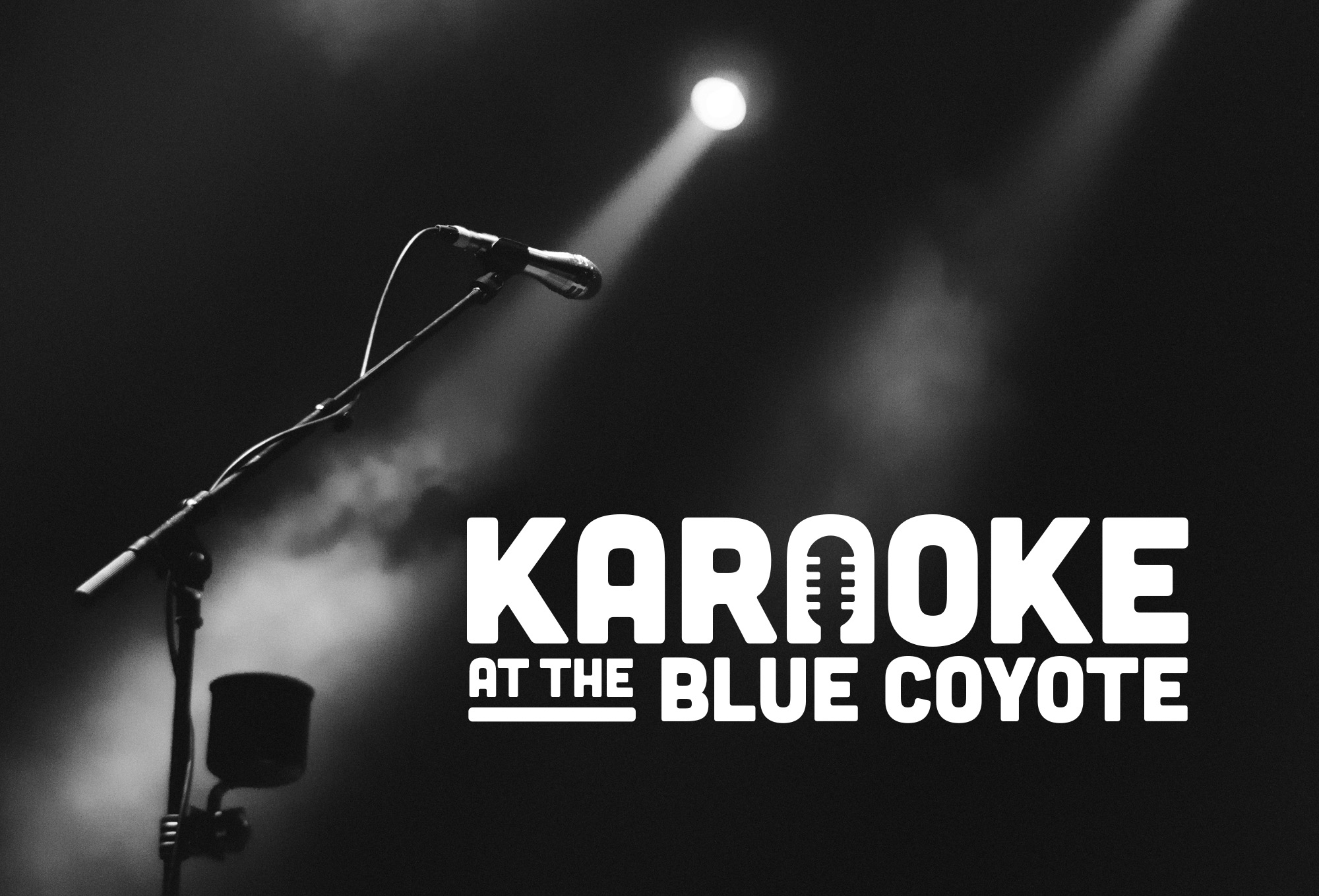 Karaoke at the Blue Coyote Logo: Final Design
